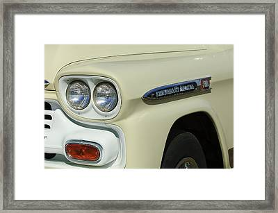 Chevrolet Apache 31 Fleetline Headlight Emblem Framed Print