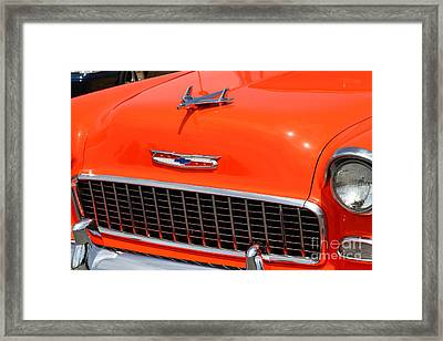 Chevrolet Bel-air Stationwagon . Orange . 7d15269 Framed Print by Wingsdomain Art and Photography