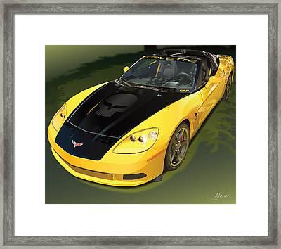 chevrolet corvette C6.R for the street  Framed Print by Alain Jamar