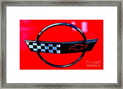 Framed Print featuring the digital art Chevrolet Corvette by Tony Cooper