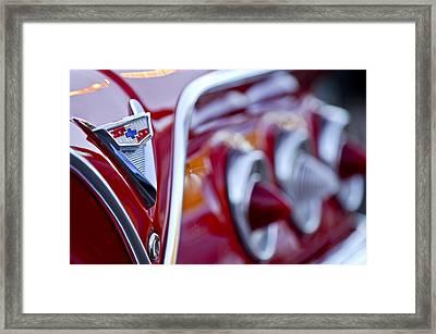 Chevrolet Impala Emblem Framed Print by Jill Reger