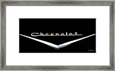 Chevrolet Logo Framed Print by Leslie Revels