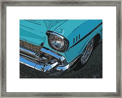 Chevy Bel Air Headlight And Bumper Framed Print by Samuel Sheats