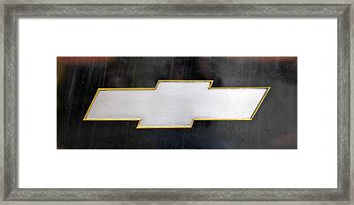 Chevy Bowtie Framed Print by Glenn Gordon