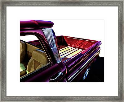 Chevy Custom Truckbed Framed Print