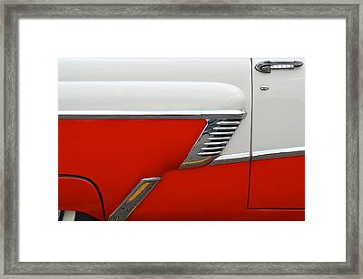 Chevy Door Framed Print by Frozen in Time Fine Art Photography