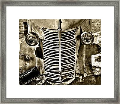 Chevy Grill Work Framed Print