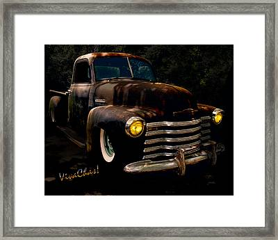 Chevy Hot Rat Rod Pickup Cowgirl's Last Stand Framed Print