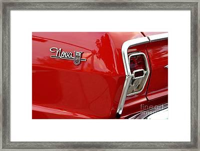 Chevy Nova Framed Print by John Black