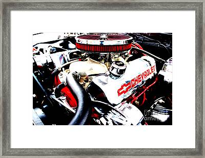 Framed Print featuring the digital art Chevy Power Plant by Tony Cooper
