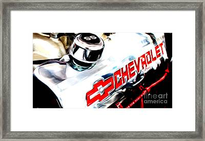 Framed Print featuring the digital art Chevy Power by Tony Cooper