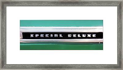 Chevy Special Delux Framed Print