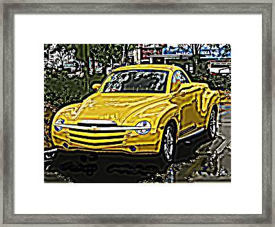 Chevy Ssr Pickup Framed Print by Samuel Sheats
