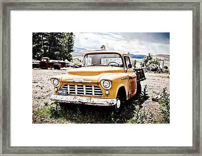 Chevy Taxi Cab  Framed Print by Sheri Van Wert