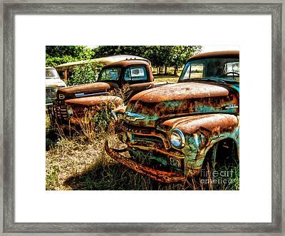 Chevy Vs. Ford Framed Print