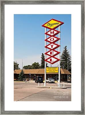 Cheyenne Motel Framed Print