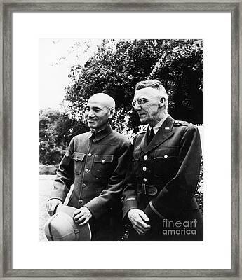 Chiang Kai-shek & Stilwell Framed Print by Granger