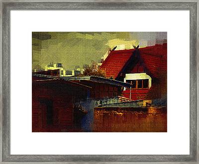 Chiang Mai House Framed Print by Fran Woods