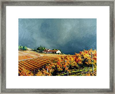 Chianti Storm Framed Print by Michael Swanson