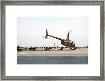 Chicago 07 Helicopter Framed Print by Thomas Woolworth