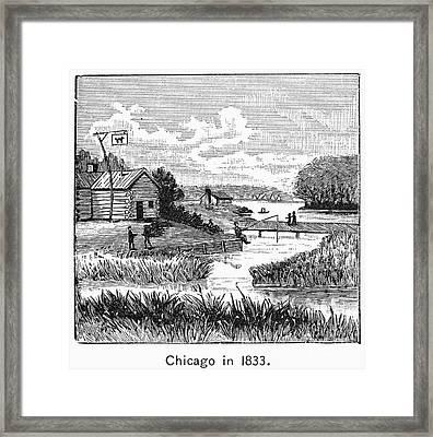 Chicago, 1833 Framed Print