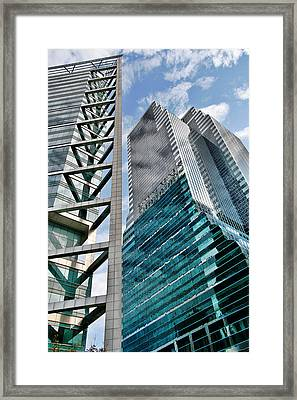 Chicago - A Sophisticated Finance Hub Framed Print by Christine Till
