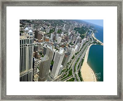 Chicago Aerial View Framed Print by Sophie Vigneault