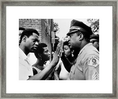 Chicago African American Policeman Framed Print by Everett