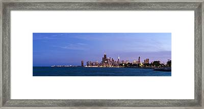 Chicago At Dusk Framed Print by Twenty Two North Photography