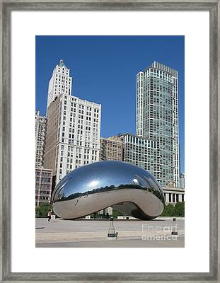 Chicago Bean Framed Print by Wendy Jackson