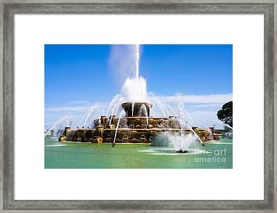 Chicago Buckingham Fountain Framed Print by Paul Velgos