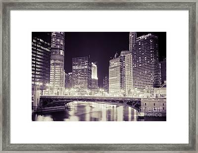 Chicago Cityscape At State Street Bridge Framed Print by Paul Velgos