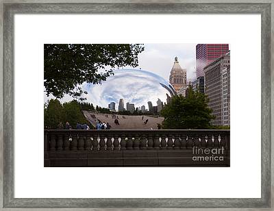 Chicago Cloud Gate Bean Sculpture Framed Print