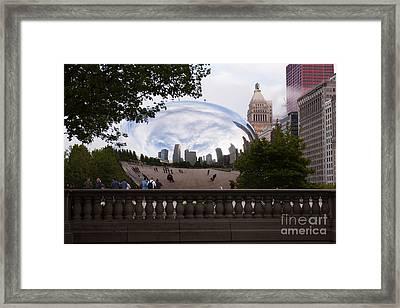 Chicago Cloud Gate Bean Sculpture Framed Print by Paul Velgos