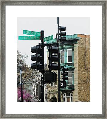 Chicago Corner Framed Print by Todd Sherlock