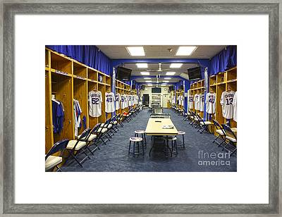 Chicago Cubs Dressing Room Framed Print by David Bearden