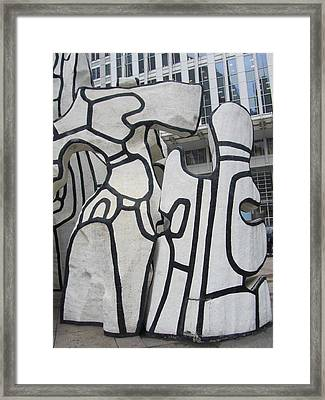 Chicago Dubuffet-2 Framed Print by Todd Sherlock