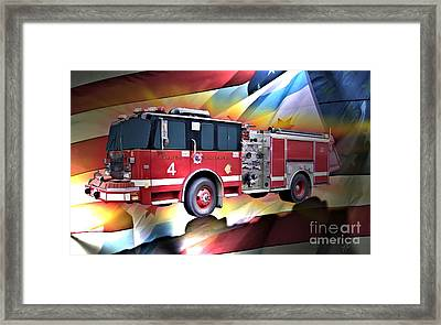 Chicago Eng 4 Framed Print by Tommy Anderson