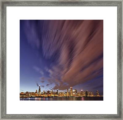 Chicago Evening 3 Framed Print by Donald Schwartz
