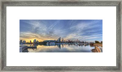 Chicago From Burnham Harbor Framed Print