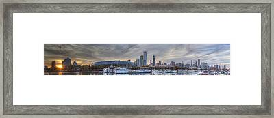 Chicago From Burnham Framed Print