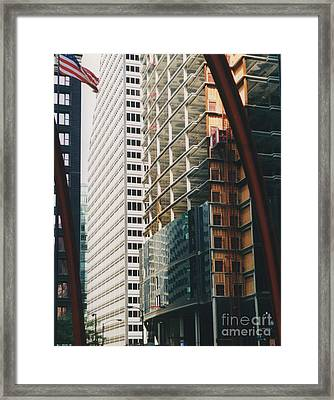 Chicago Geometry Framed Print by First Star Art