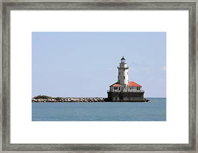 Chicago Harbor Light Framed Print