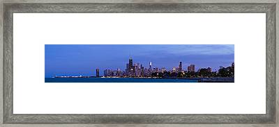 Chicago Illinois Panorama Framed Print by Twenty Two North Photography