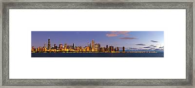 Chicago Illinois Skyline At Dawn Framed Print by Twenty Two North Photography