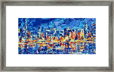 Chicago Lake Front Framed Print by Kat Griffin