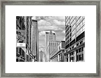 Chicago Lasalle Street Framed Print