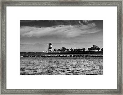 Chicago Lighthouse Framed Print by Leslie Leda
