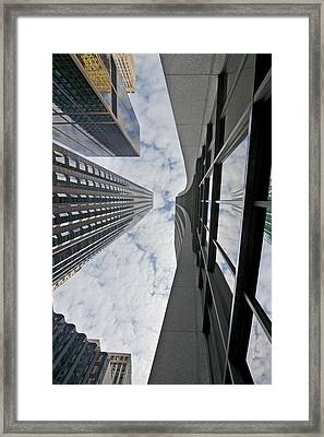 Chicago - Look Towards The Sky Framed Print by Christine Till