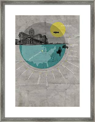Chicago Poster Framed Print by Naxart Studio
